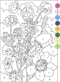 Nicole S Free Coloring Pages Color By Numbers Flowers Coloring Page Flower Coloring Pages Free Coloring Pages Coloring Pages