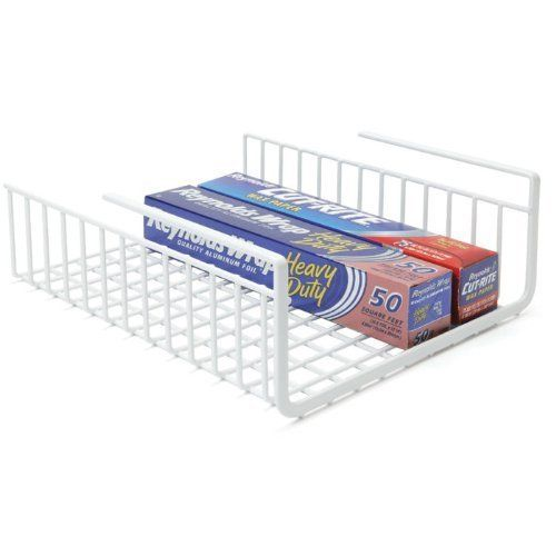 Under Shelf Wrap Rack in WHITE model 1983W from Organize It All Neu Home http://www.amazon.com/dp/B000KKMNGY/ref=cm_sw_r_pi_dp_OaUjub1EYMFFB