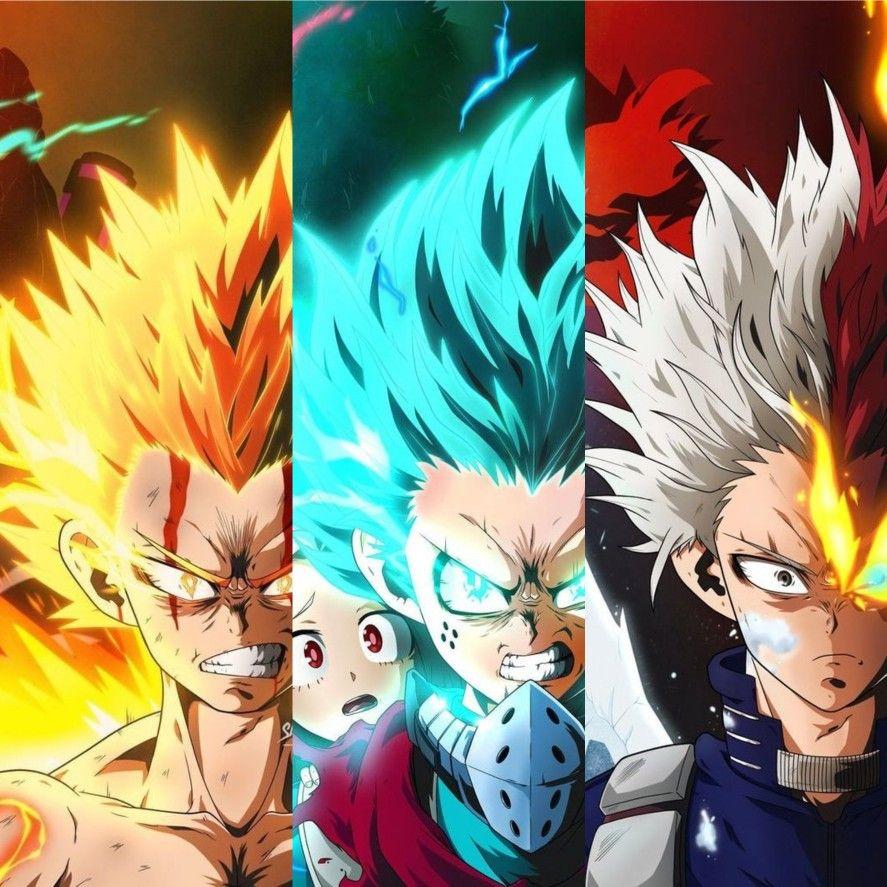 Izuku Shoto And Bakugo Erloyn Hero Wallpaper Hero Poster Anime Background All anime together wallpaper