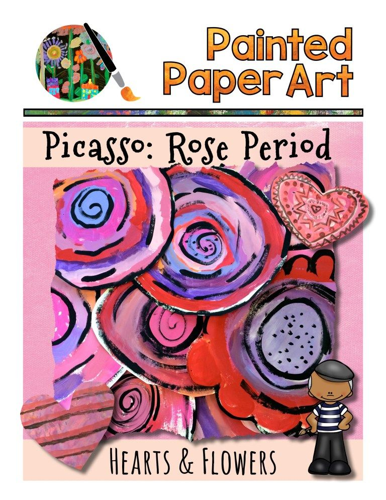 Picasso: Rose Period Hearts and Flowers | Painted Paper ...
