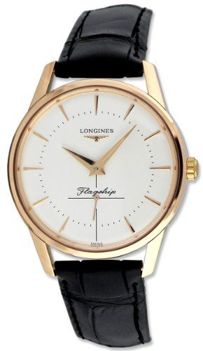 90b003b5779 Longines Flagship Heritage Automatic 18k Solid Rose Gold Mens Watch Reviews  2013 Relógio De Ouro Rosa