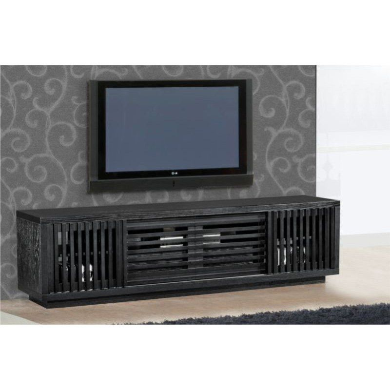 $1399  Dimensions: 81.5W x 17.7D x 21.54H in.  Furnitech Signature Home Collection 81.5 in. TV Stand - Ebony - TV Stands at Hayneedle