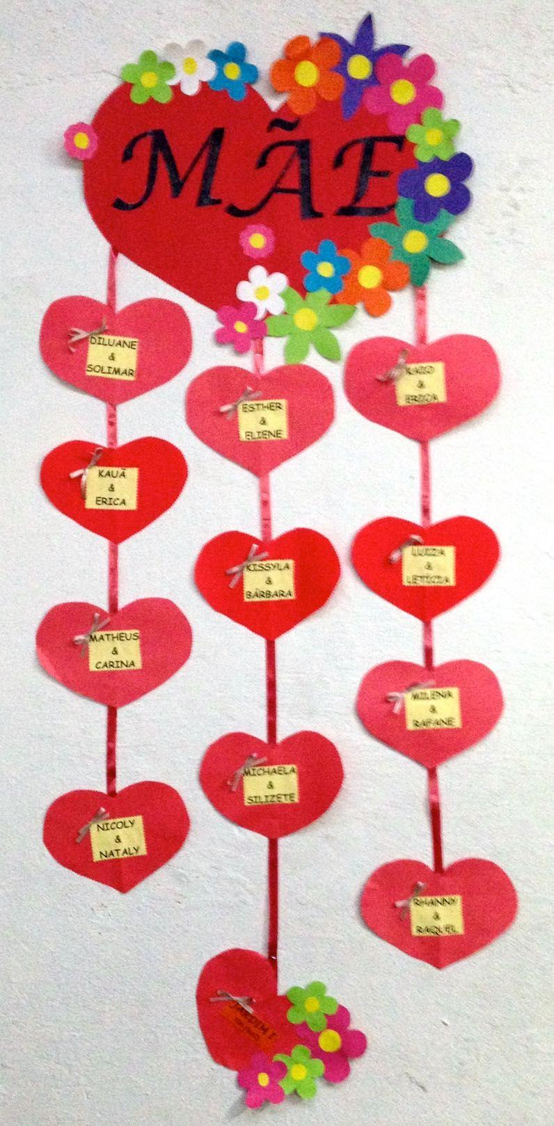 ... pinturas com guache e diferentes papéis para decorar uma linda caixa  para as mães. Os estudantes do 5º ano desejam a todas um feliz dia das mães!