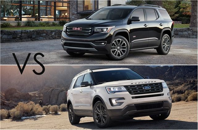 Head To Head Ford Explorer Vs Gmc Acadia U S News World