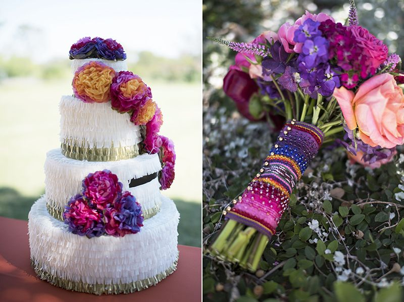 camplucy wedding wedding cake pi ata card holder and serape tied bouquet both hand crafted. Black Bedroom Furniture Sets. Home Design Ideas
