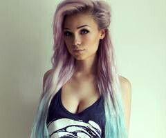 Tie dye hair