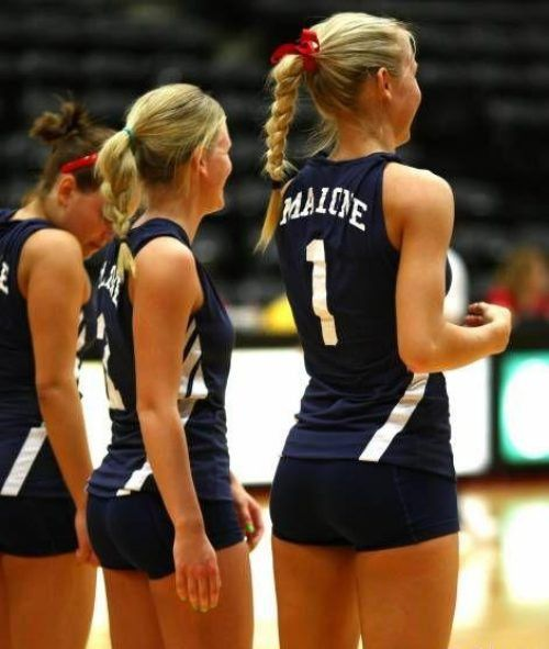 The world Blonde girls in volleyball shorts magnificent