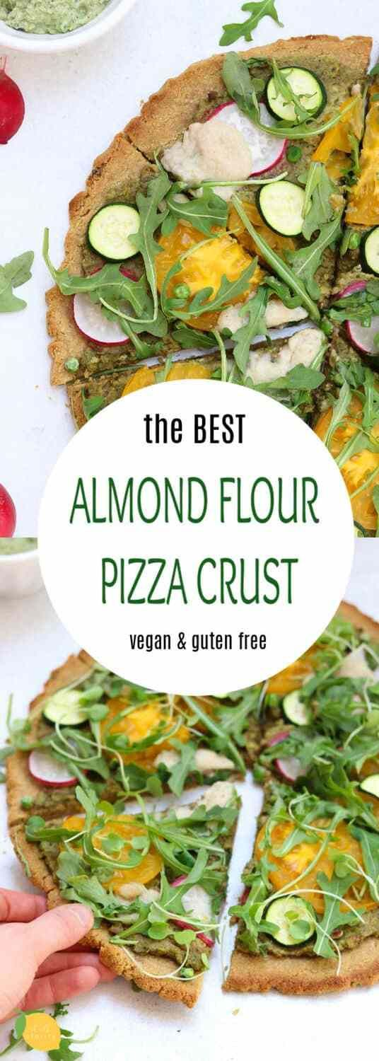 This easy and delicious almond flour pizza crust is made with simple and wholesome ingredients