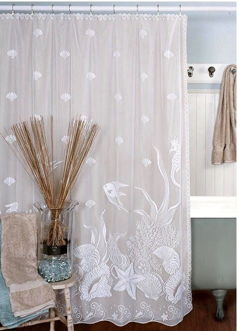 Laced Under The Sea Shower Curtain From Coastal Gifts Ocean