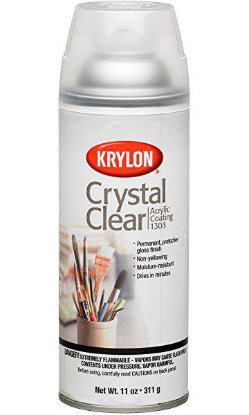 Krylon K01303007 Acrylic Spray Paint Crystal Clear In 11 Ounce Aerosol With Images Acrylic Spray Acrylic Spray Paint Krylon