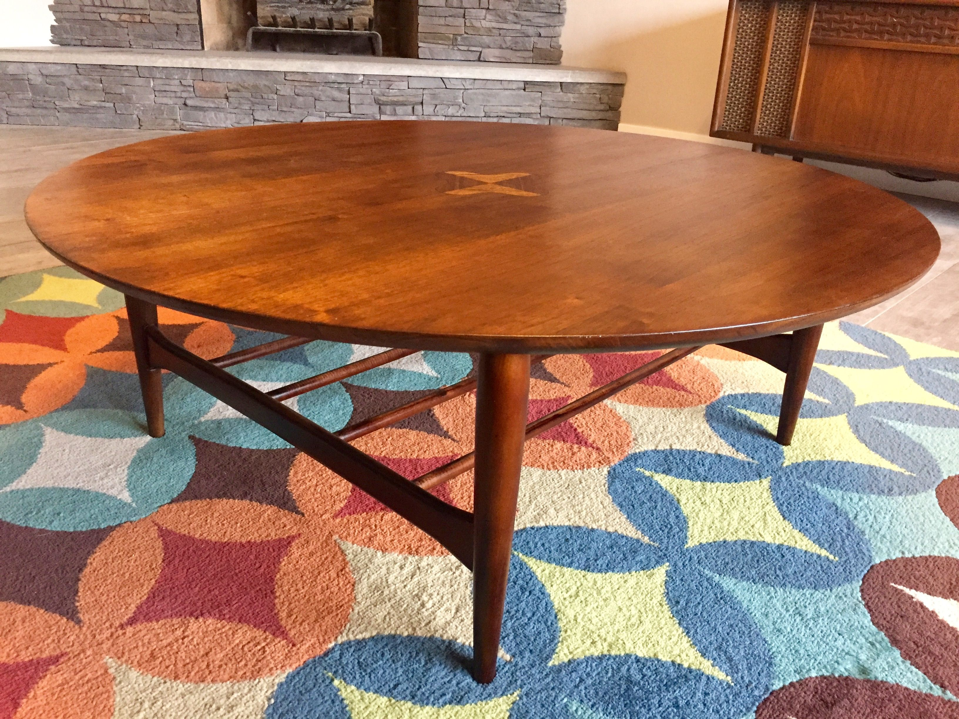 Bassett Artisan Mid Century Modern Round Coffee Table MCM by