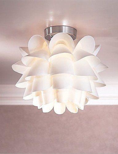 SSBY White Flower Ceiling Light 1Light Pendant Living Room Bedroom ...