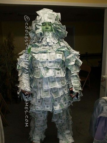 Awesome Homemade Geico Money Man Costume Costumes, Halloween - homemade halloween costume ideas men