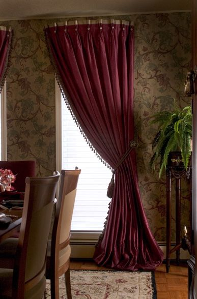 curved rod with beautiful soft curtains