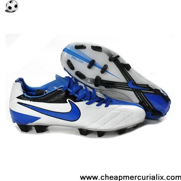efd41a0c6a46 Buy Cheap Nike Total 90 Laser IV FG white blue black Shoes Shop ...