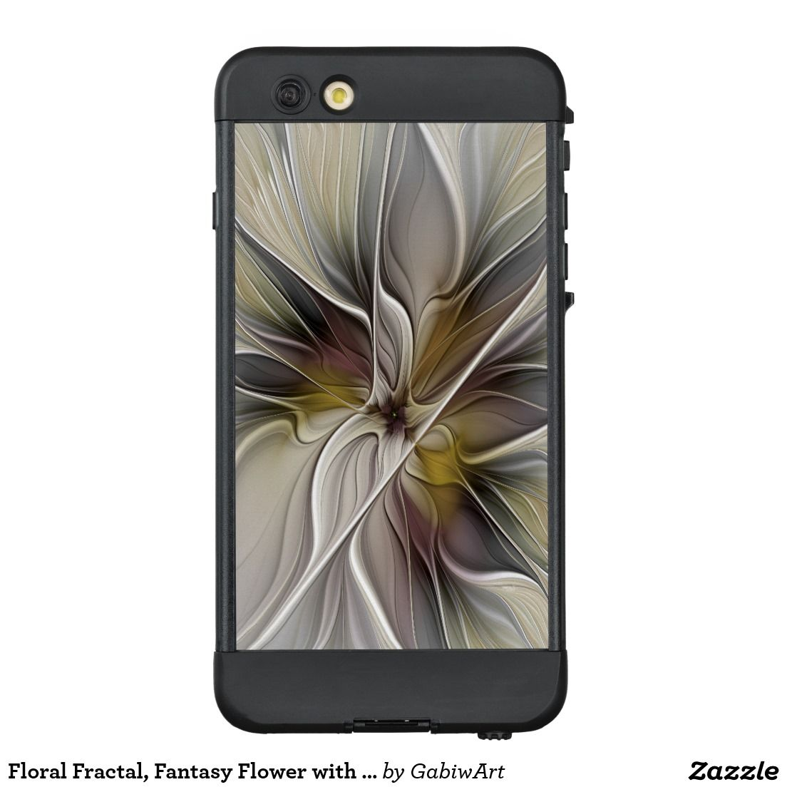 Floral fractal fantasy flower with earth colors lifeproof