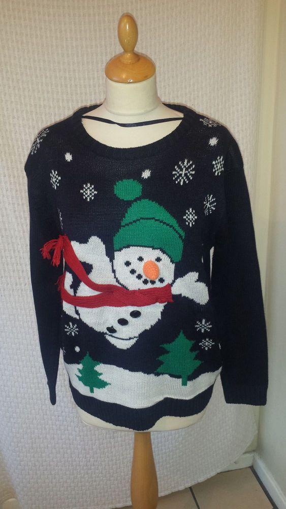 Unisex Kids Christmas Jumper Girls Boys Xmas Jumper Snowman With Candy