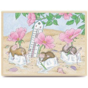 """House Mouse Mounted Rubber Stamp 3.5""""X4.5""""-Beach Cooler: Amazon.ca: Home & Kitchen"""