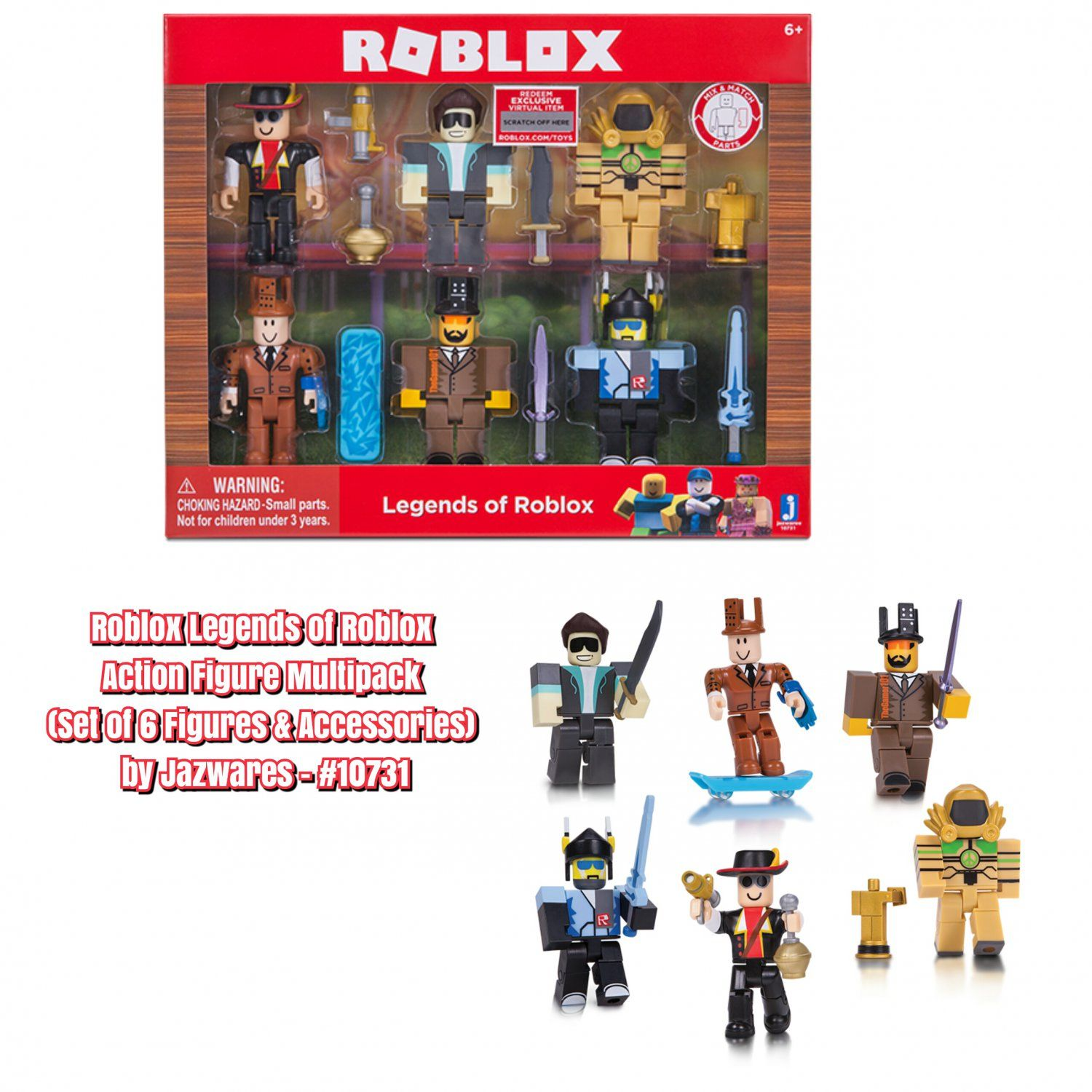 Roblox gear id code list bing images - Roblox Legends Of Roblox Action Figure Multipack Set Of 6 Figures Accessories By