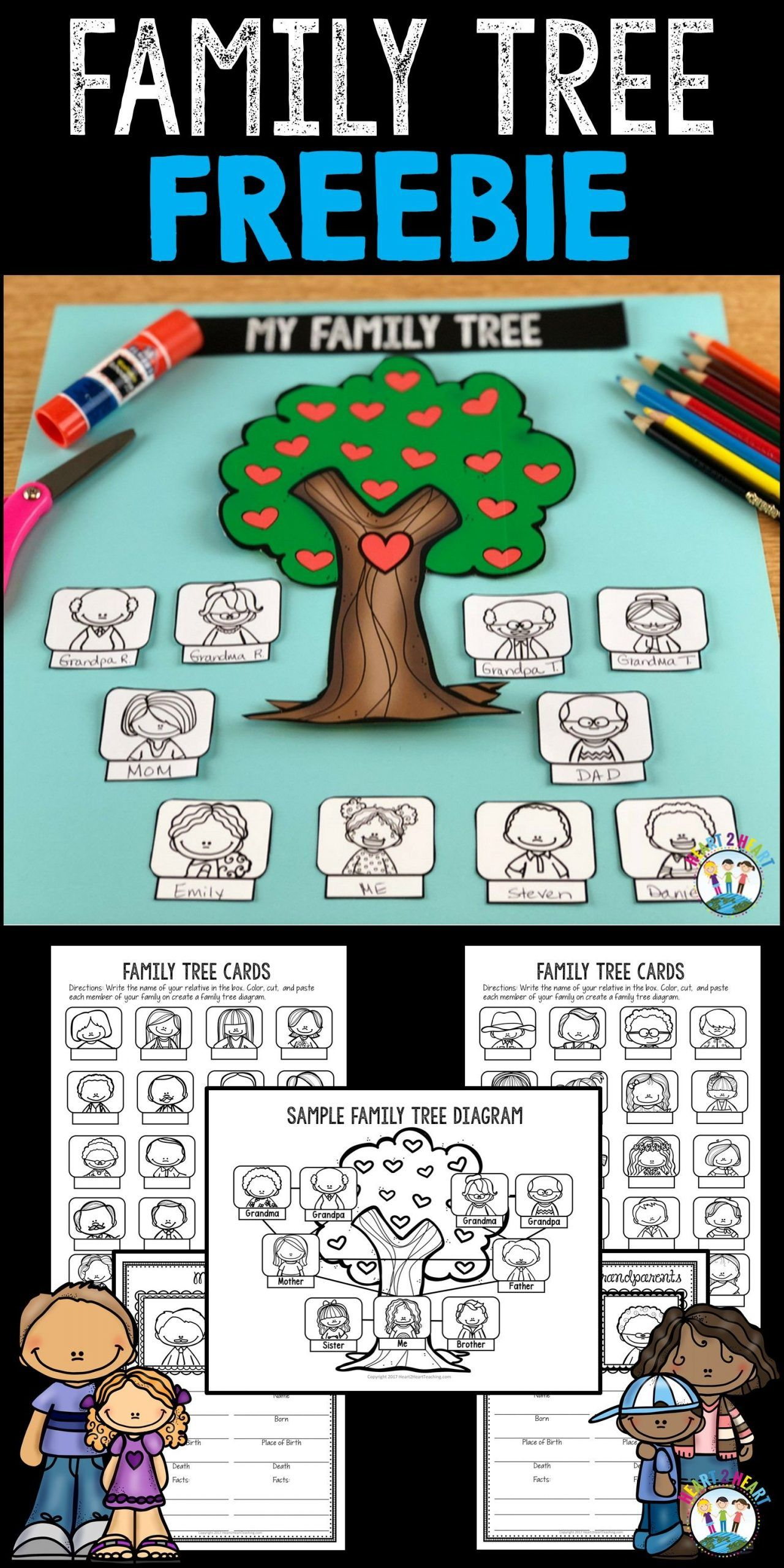 Family Tree Project Freebie In