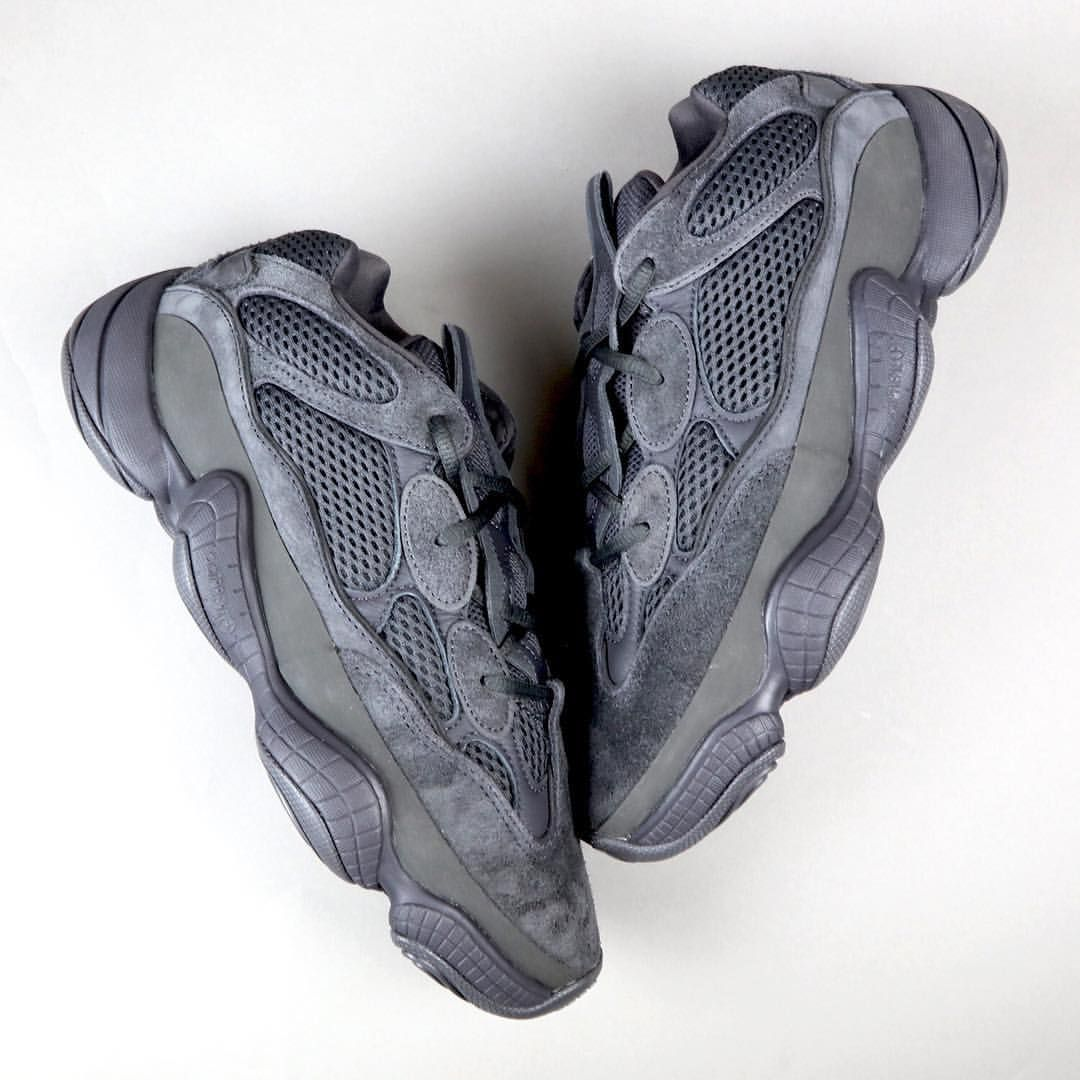"""new concept b9e40 1db69 The  adidasYeezy 500 """"Utility Black"""" officially releases tomorrow. For the  full store list as well as an unboxing preview, tap the link in…"""