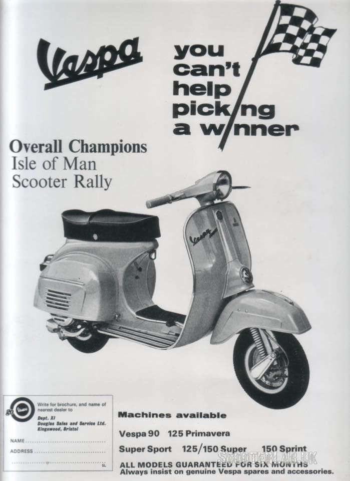 vespa isle of man scooter rally 1960's vespa advertising electric scooter wiring diagram for a lift vespa isle of man scooter rally 1960's