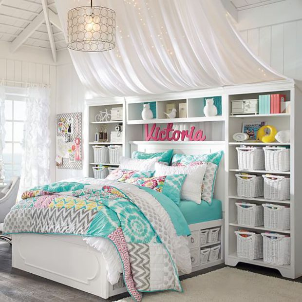 Dream Bedrooms For Teenage Girls: Shelby Storage Bed Super Set
