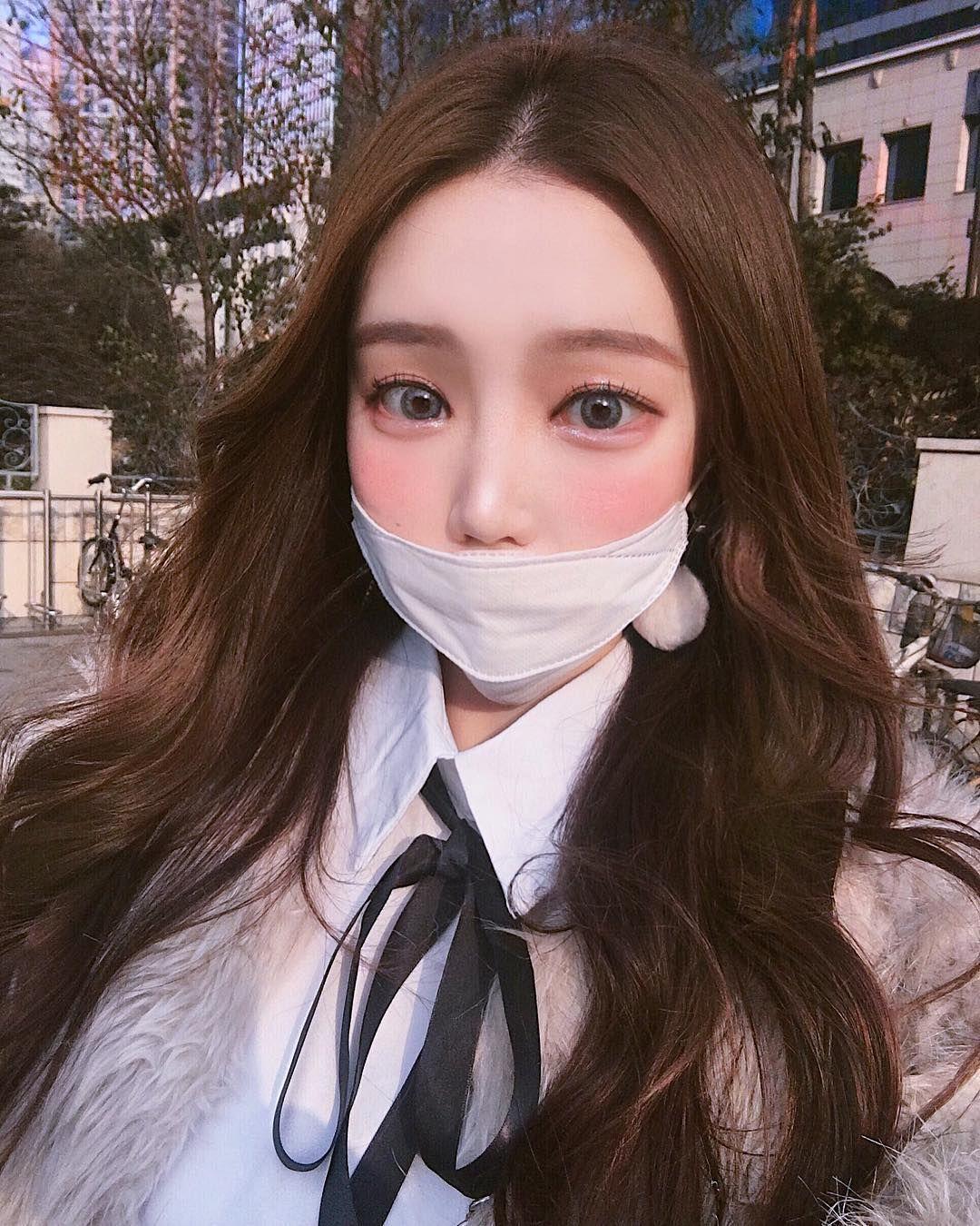Ulzzang Girl Large Eyes Long Hair: Ulzzang Girl, Korean