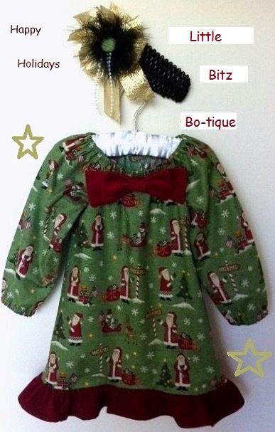 VINTAGE SANTA PEASANT by LittleBitzBotique on Etsy, $28.00