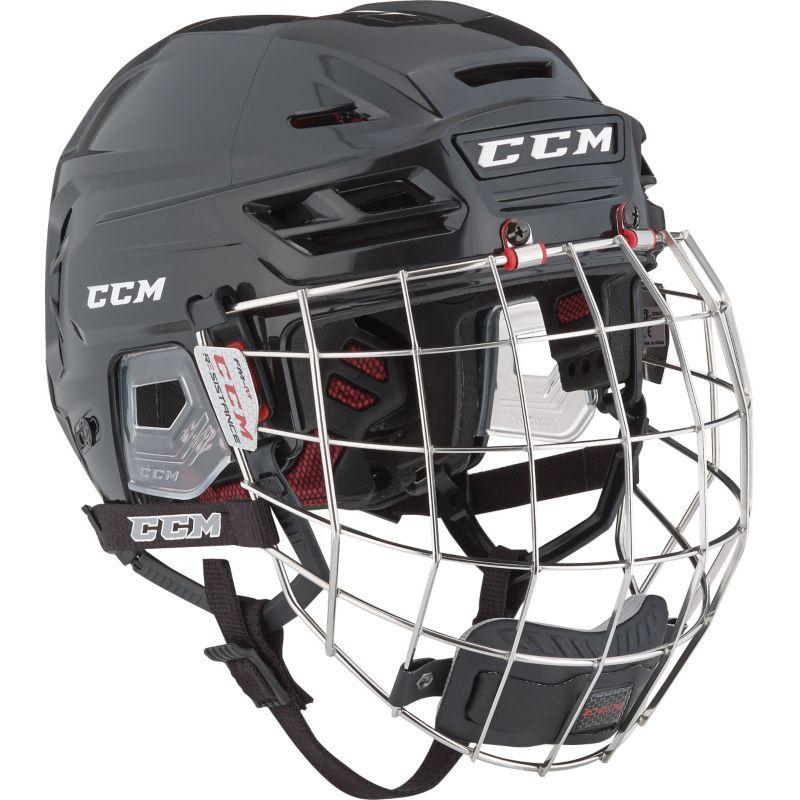 Ccm Resistance 110 Ice Hockey Helmet Combo Black Hockey Helmet Hockey Helmets Helmet