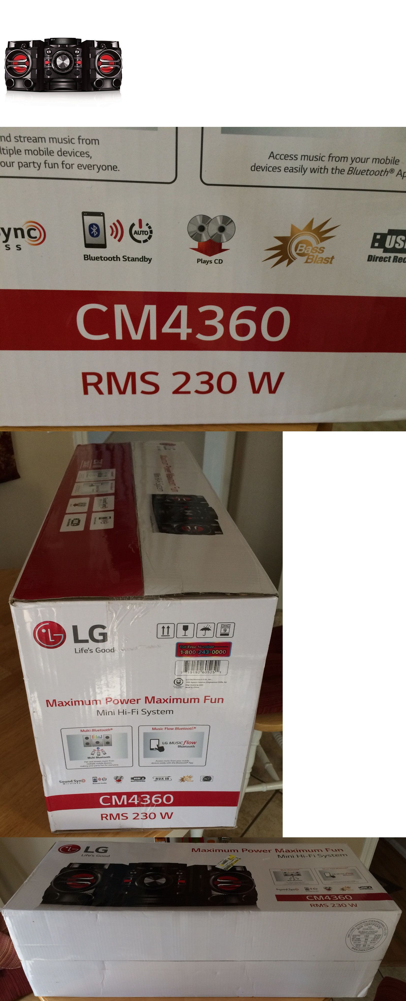 Compact And Shelf Stereos Lg Audio Cm4360 230w Hi Fi Bluetooth Circuit Breaker Labels Ebay System With