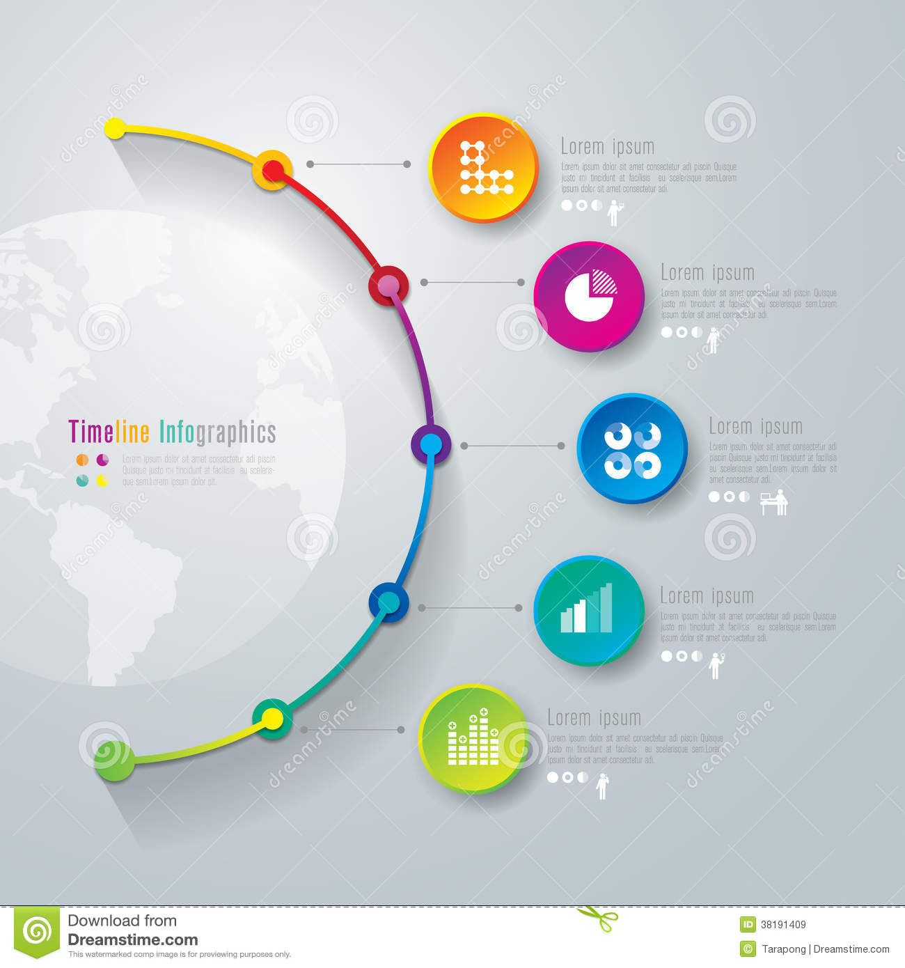 Timeline Infographics Design Template Royalty Free Stock - Timeline free template