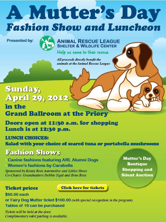 Events Fundraisers Mothers Day Event Doggie Style Animal Rescue League