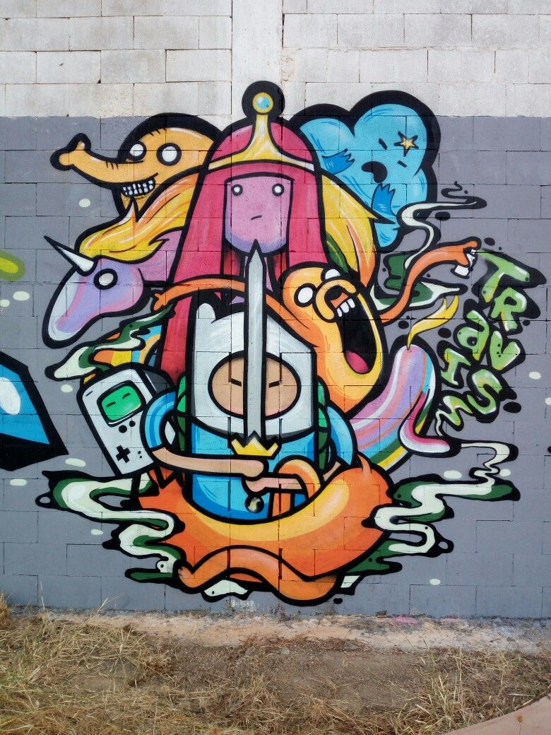 Adventure Time Graffiti By Travis Portugal Algarve Graffiti