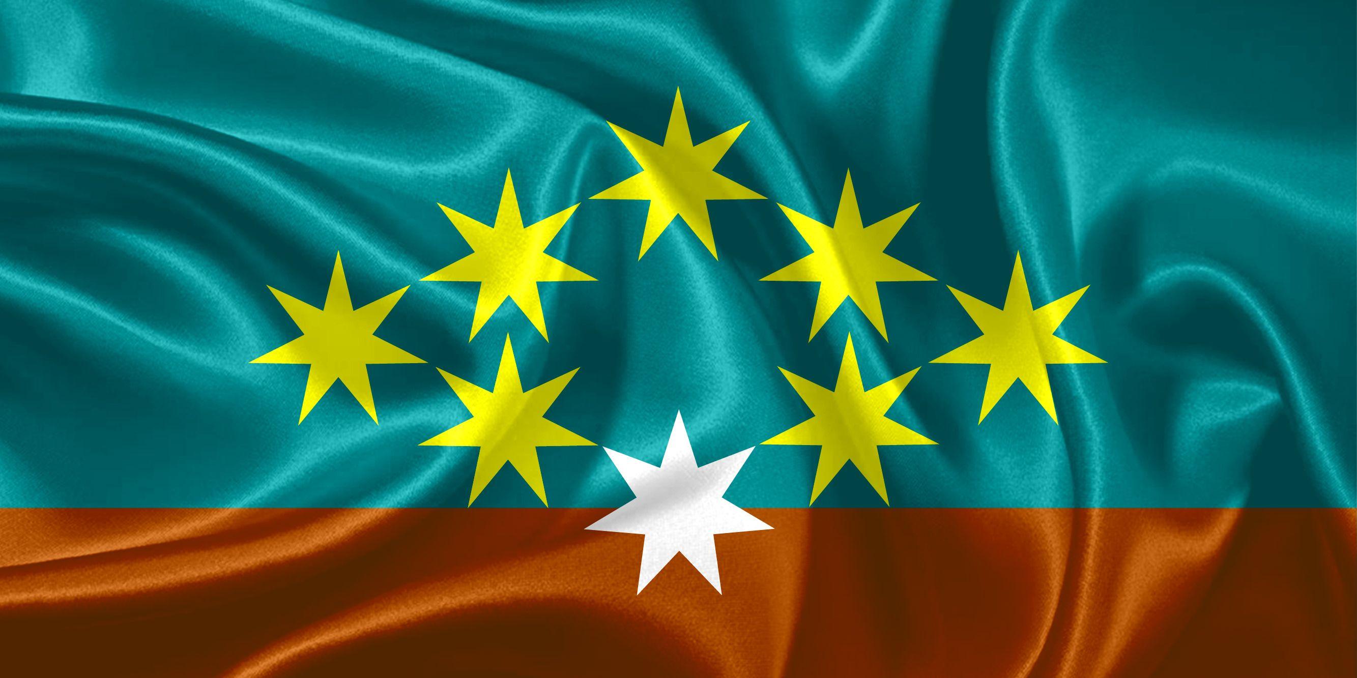 New Australian Flag Design UluruSky 18-GoldenDiamond8-TurqOchreIron ...