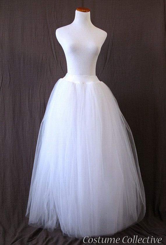 95ca85c7c PERFECT or Snow Fairy costume!!! Long White Tulle Skirt Med Adult Tutu by  CostumeCollective, $79.00