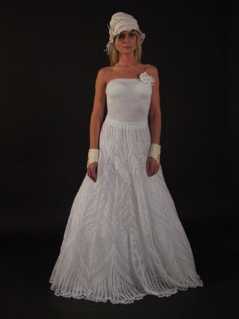Knitted wedding dress  bruidsjurk  Pinterest  Wedding Crochet