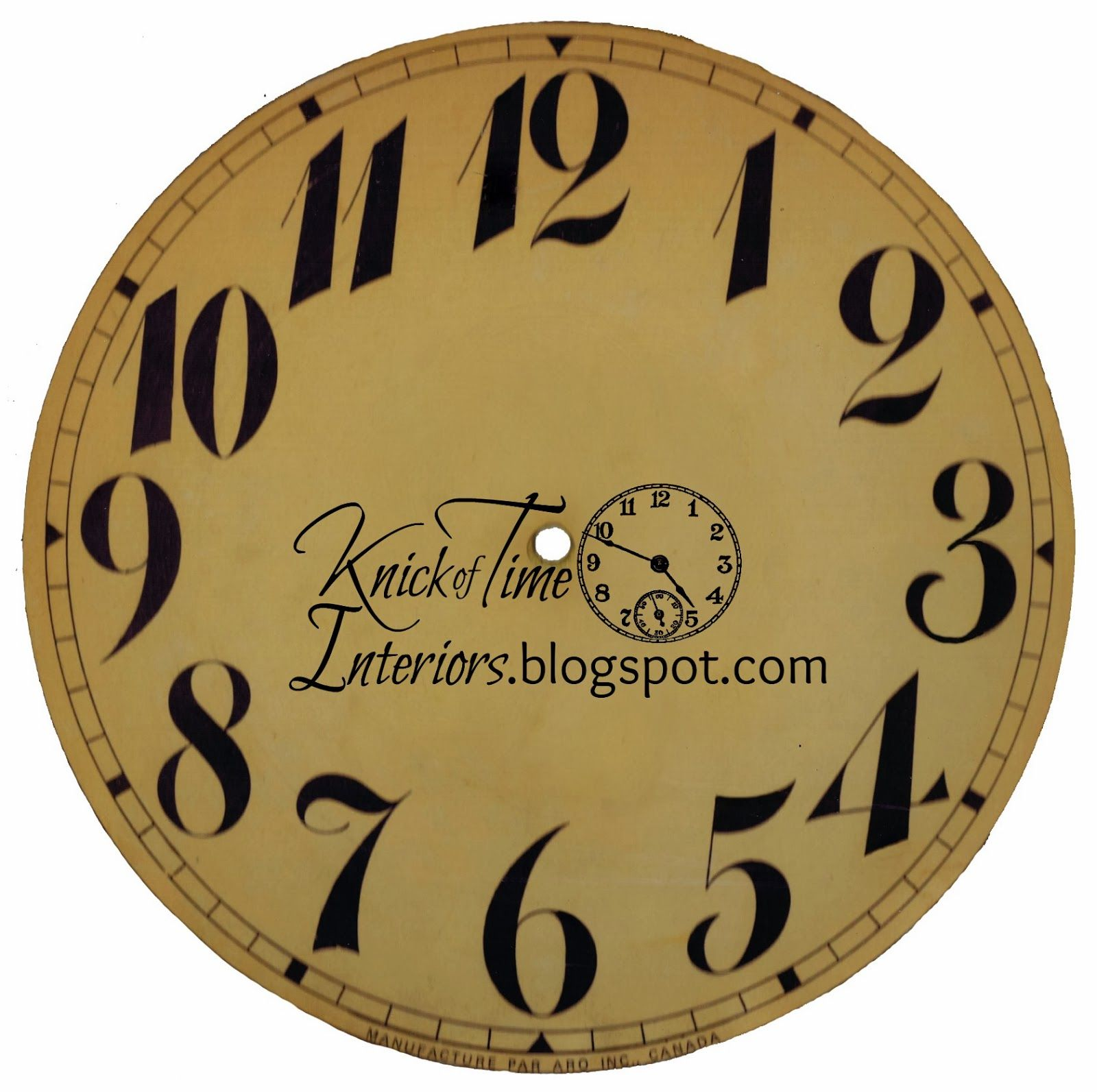 Clock Face Printable Via Knick Of Time