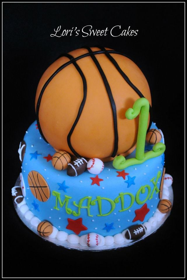 Basketball Fun Desserts Baking Party Themed Birthday Cakes