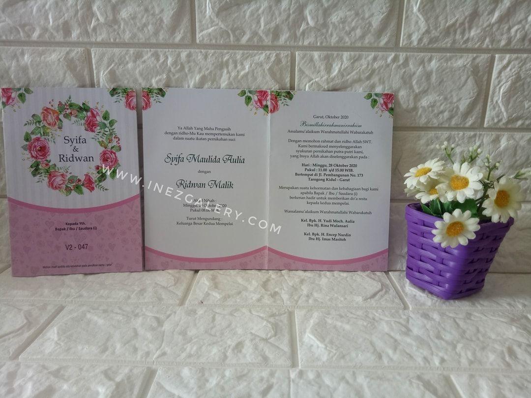 Desain Undangan Pernikahan Tanpa Nama - Kartu Undangan
