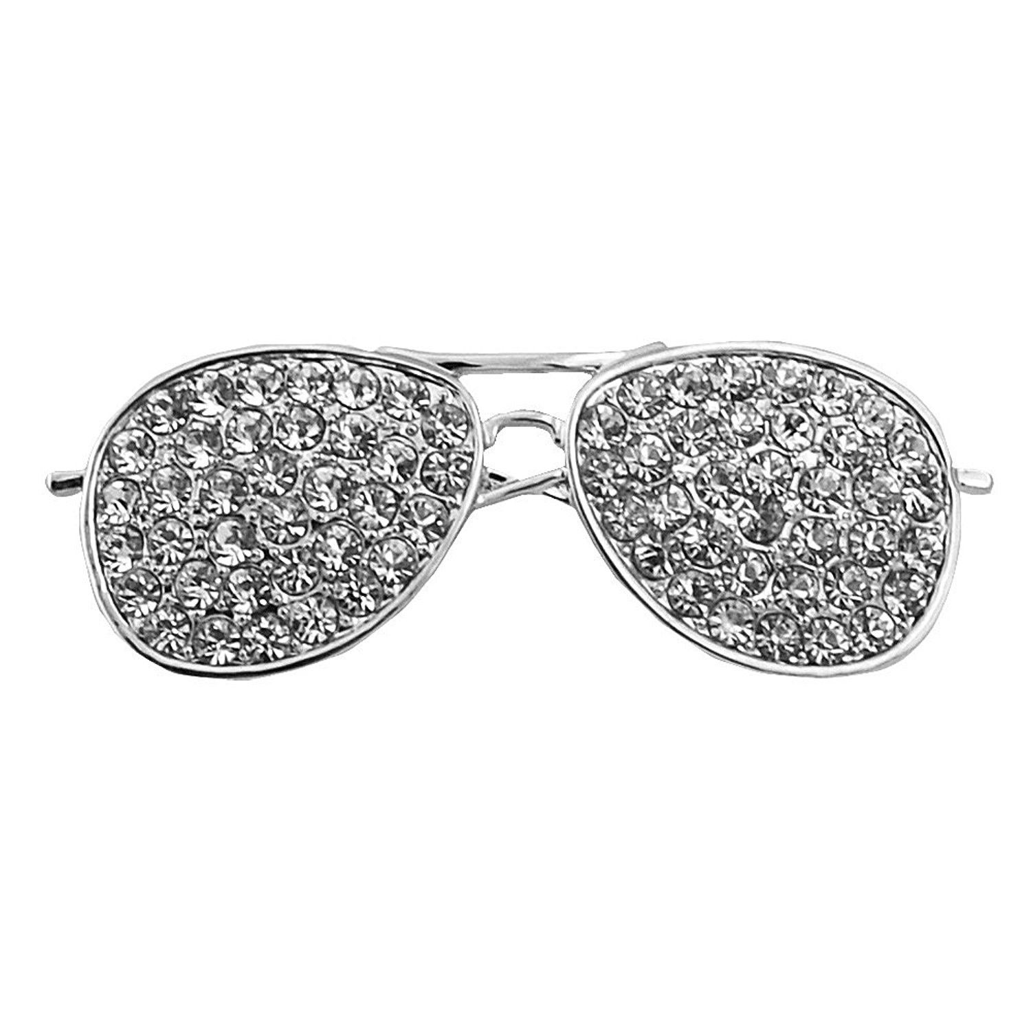 Cool Sunglasses Brooches Pin For Women Gold And Silver
