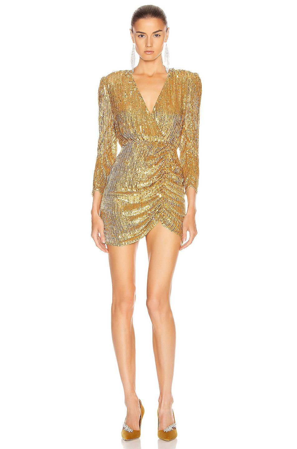 retrofete for FWRD Stacey Dress in Gold Glam dresses