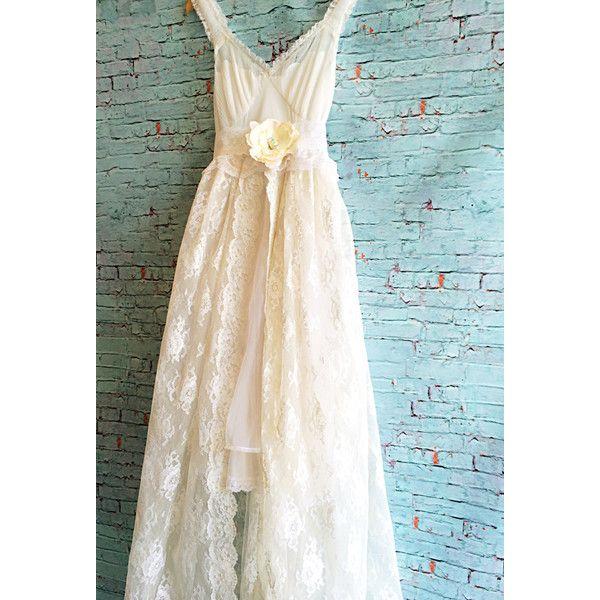 White Chiffon Tulle & Lace Fishtail Wedding Dress With Knife Pleat ...