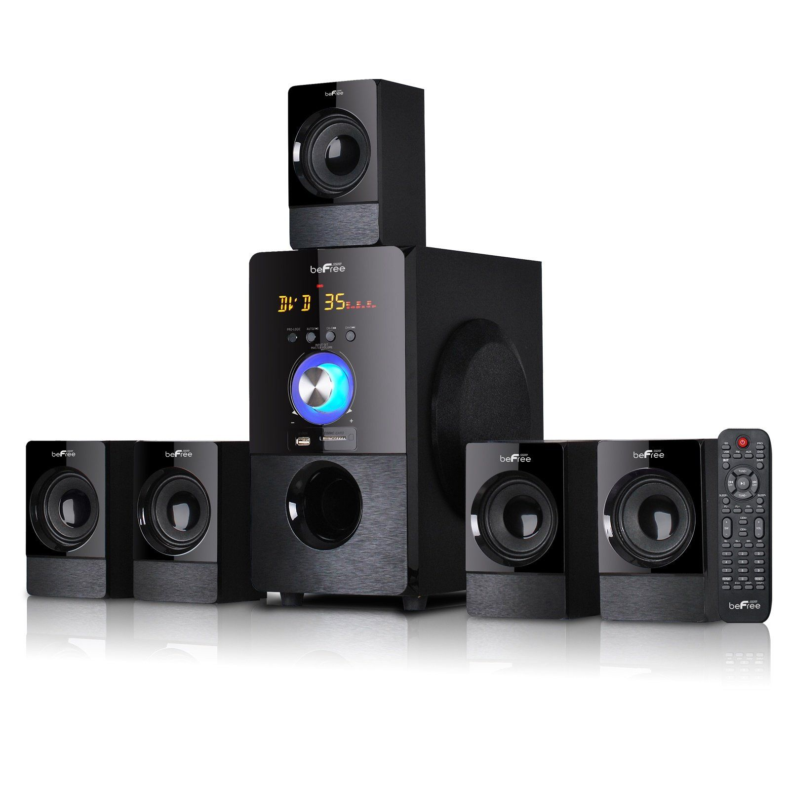 Befree sound channel surround sound bluetooth speaker system in