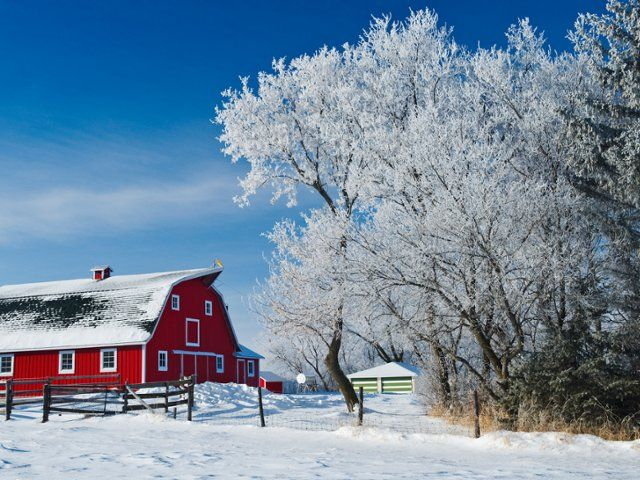 Free Wallpaper Desktop Wallpaper And Free Screensavers Winter Wallpaper Desktop Red Barn Country Barns