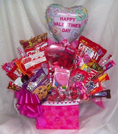 Homemade Valentine Basket Ideas For Men Candy Bouquets