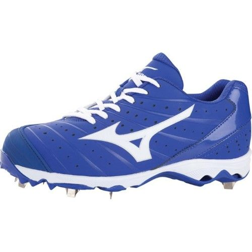 blue mizuno softball cleats