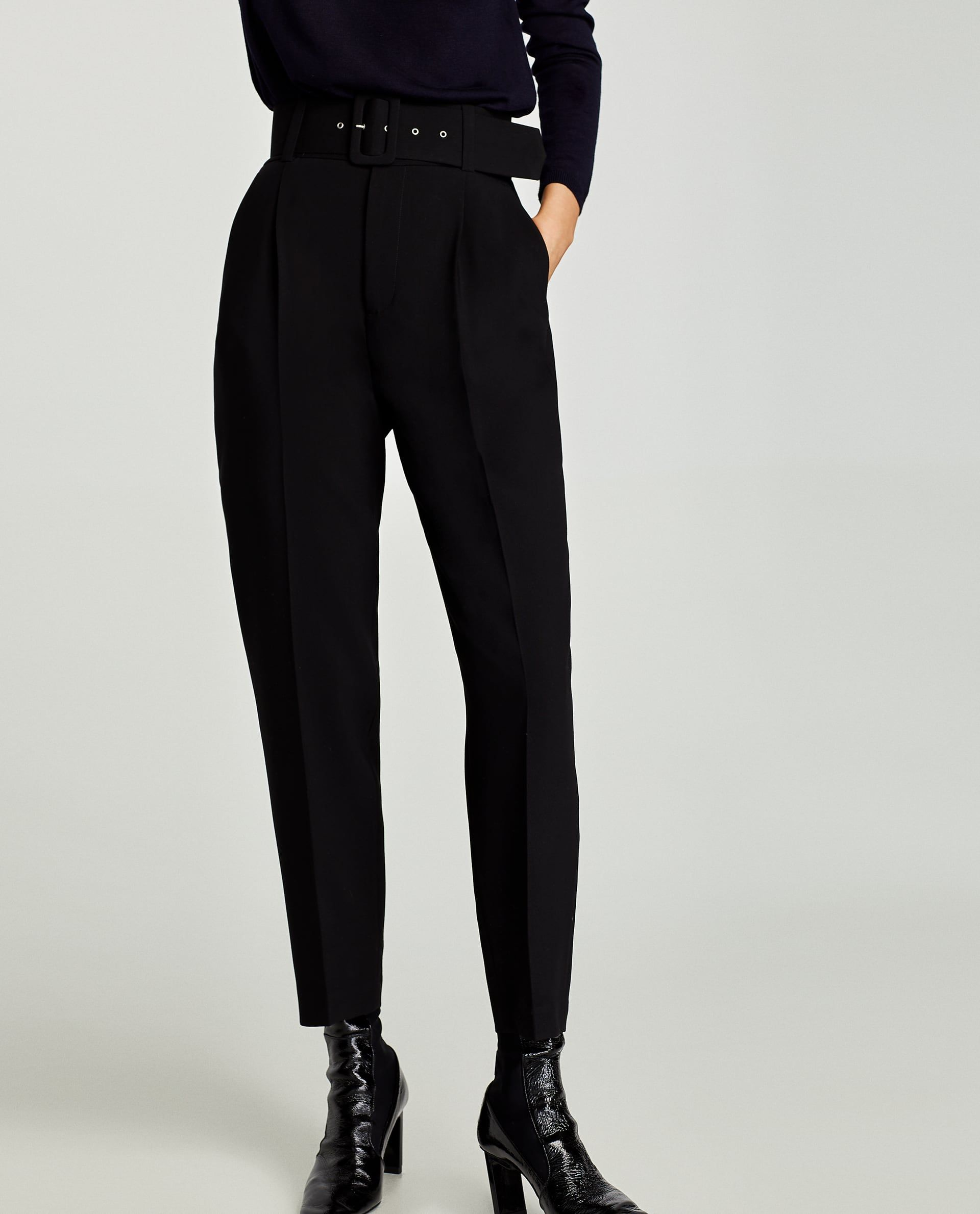8f57ad2b CREPE TROUSERS WITH BELT from Zara | La Mode in 2019 | Trousers ...