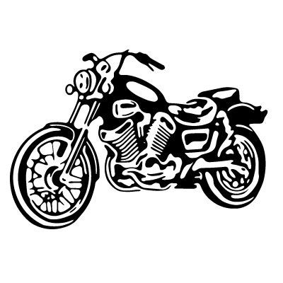 Motorcycle Clip Art Black and White | MOTOR17 | Silhouette ...