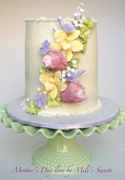 Mother S Day Love With Images Flower Cake Gum Paste Flowers